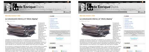 Capturas del blog de Enrique Dans