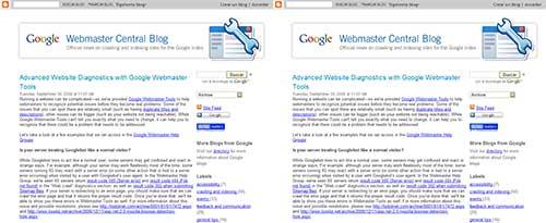 Capturas de Google Webmaster Central Blog