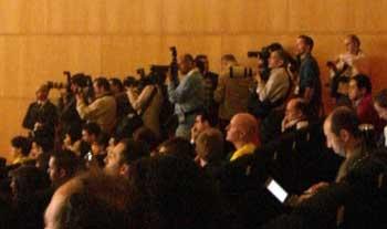 Fotógrafos durante el WWW2009