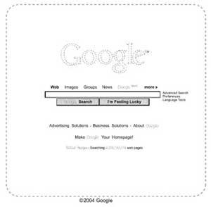 Esquema de la página inicial de Google