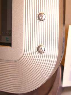 Detalle del monitor: botones