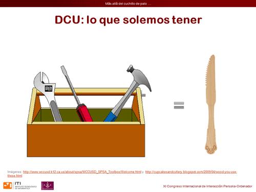 DCU: lo que tenemos equivale a un cuchillo de palo