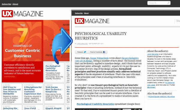Publicación del artículo en UX Magazine