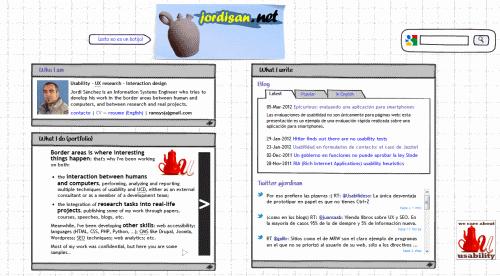 Nuevo aspecto de la home de jordisan.net