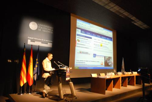 Imagen durante la ponencia '¿Es Joomla! usable?'