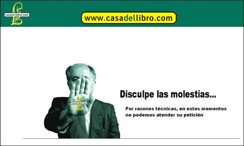 'Disculpe las molestias' en Casa del Libro