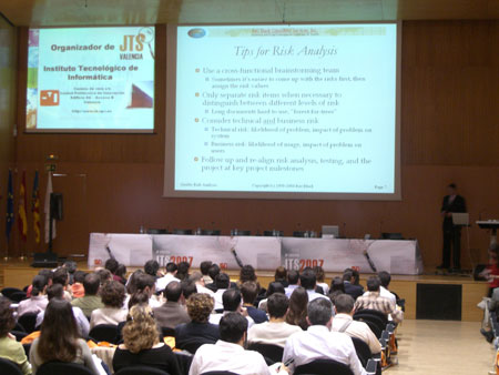 Una de las ponencias durante JTS 2007