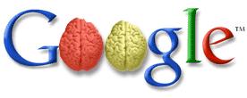 Logo de Google con dos cerebros