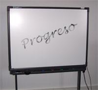 El progreso, en una pizarra
