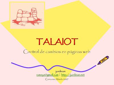 Talaiot: control de cambios en páginas web