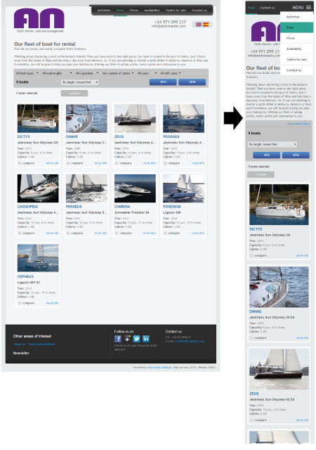 Responsive version of Drupal theme